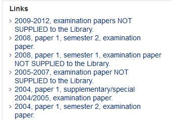 Exam years