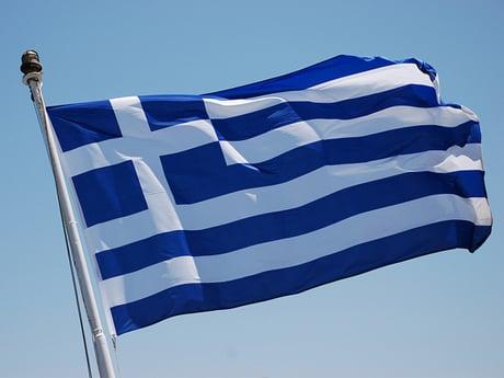 Greek flag, credit Trine Juel