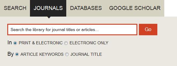 Journal tab