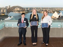 Winning students: Aaron Day, Ruby Henderson and Morgan Remilton