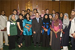 Mr James Merlino with graduates from La Trobe University's Leadership Training Program for Young Muslims