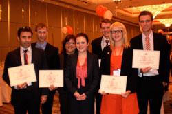 Left to right: Andrew Vincent, Paul Bekier, Magda Karagiannakis (coach), Lauren Burke, Eric Dober, Satu Aho, Nico Baarlink