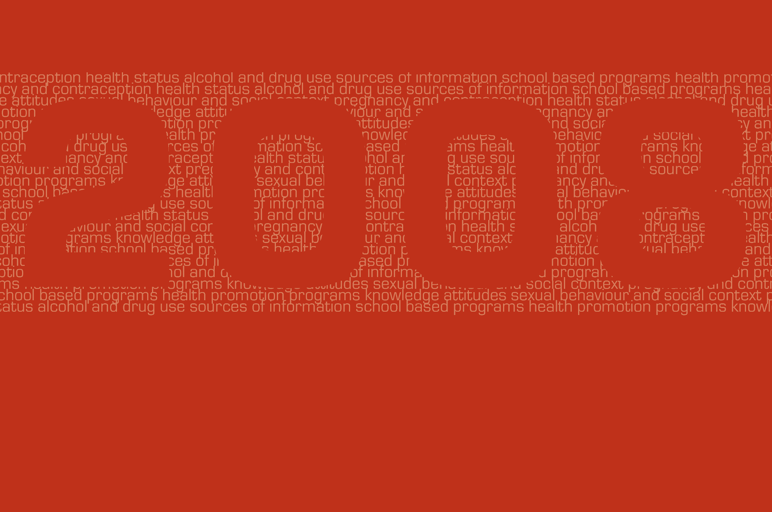 Number '2008' made of other keywords related to the study