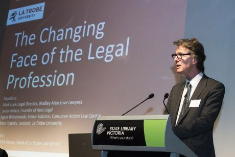 'The Changing Face of the Legal Profession' took place at the State Library of Victoria earlier this year, with several experts speaking about legal disruptors in a rapidly advancing technological age.