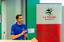 Nigel Preston, RACV Energy Breakthrough, welcomes students and teachers to the workshop.