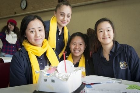 The Eco-Habitech - This team was particularly pleased with their design - nicely done, girls!