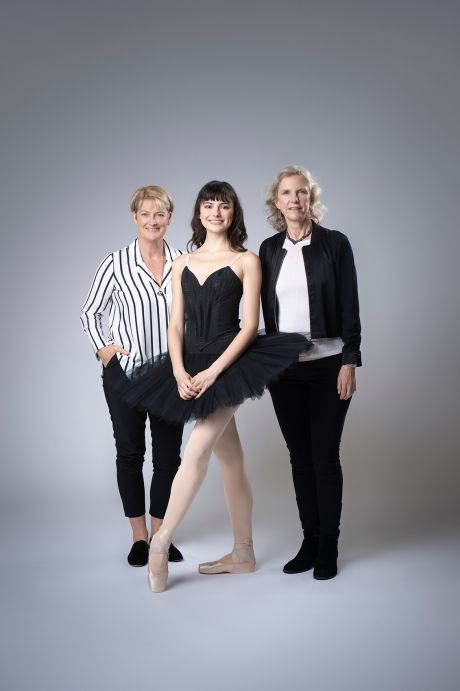 Valerie Tereshchenko, Senior Artist, The Australian Ballet. Dr Sue Mayes, Director, Artistic Health, The Australian Ballet. Professor Jill Cook, Sports Medicine Research, La Trobe University