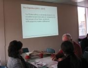 Staff meet to provide input into the development of a new Strategic Plan