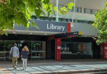 Bundoora Library front entrance.