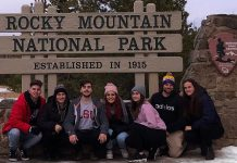 Group photo at Rocky Mountain National Park