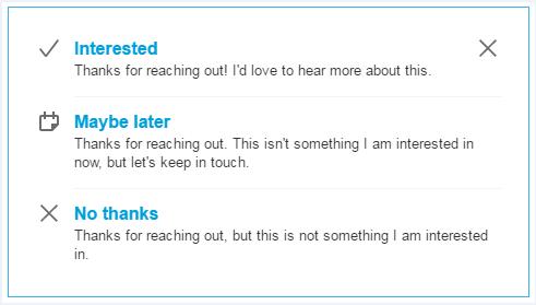 InMail responses