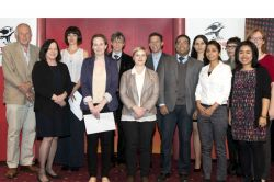 La Trobe 3MT finalists and judging panel