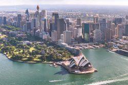 aerial view of Sydney harbour